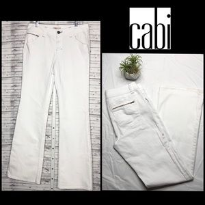 CAbi Flare Leg White Jeans Style 335L - Size 10